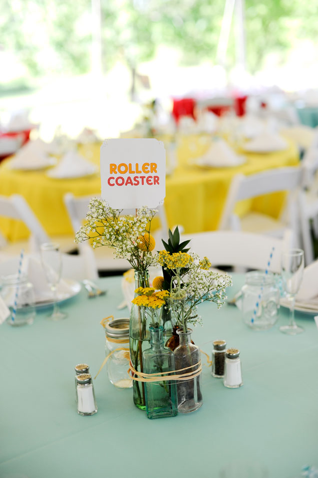 Table Number Centerpieces