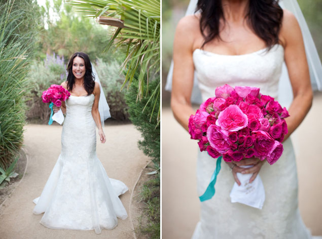 Hot pink wedding bouquets photo source jesse leake photographypin it mightylinksfo
