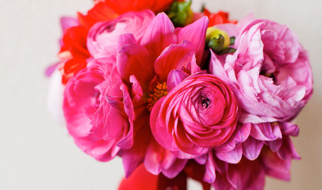 Hot pink wedding bouquets mightylinksfo
