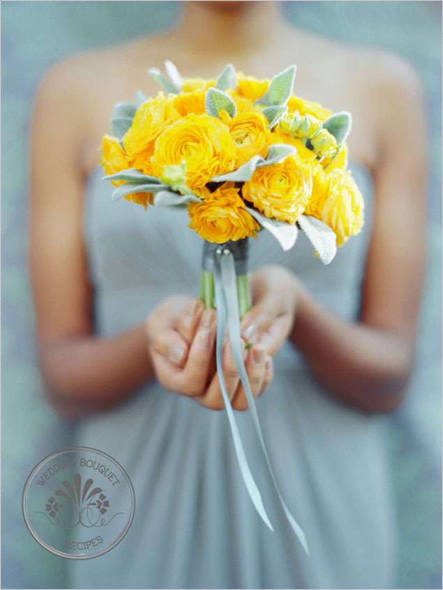 Yellow Bridesmaid Bouquet
