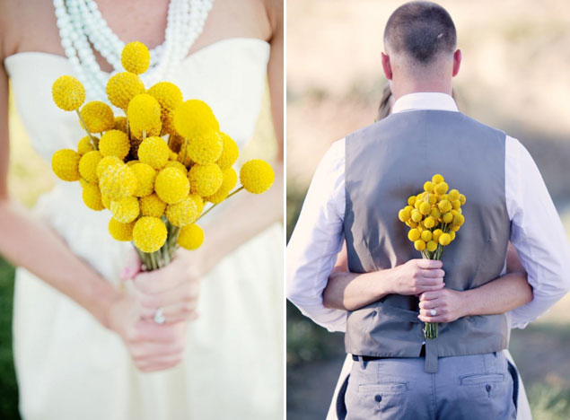 Yellow Summer Wedding Bouquets
