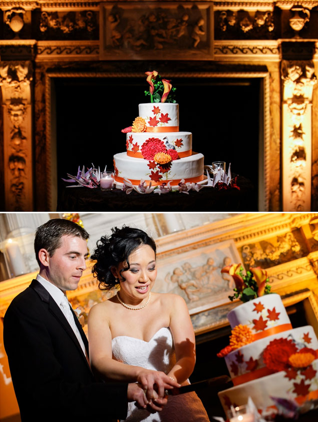 Red & Orange Wedding Cake