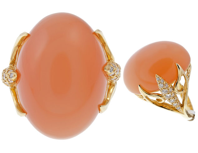 Tangerine Cabochon Ring