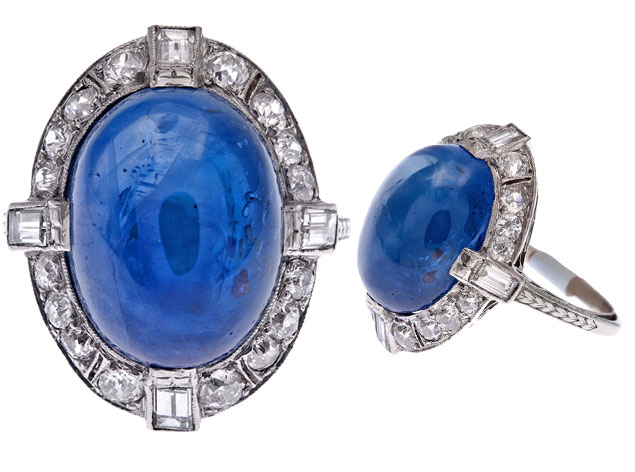 Cabochon Sapphire Rings