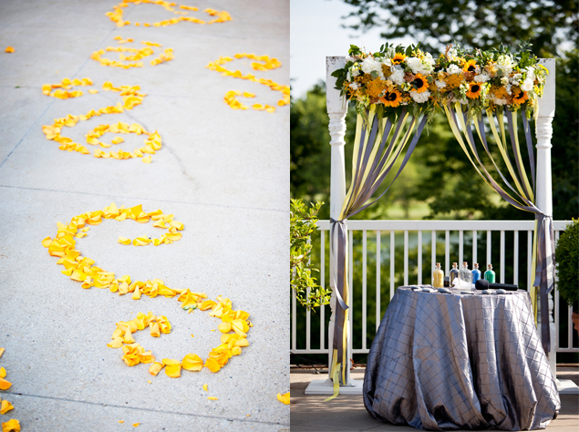 Yellow and Gray Wedding Details