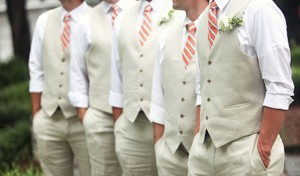Tan Groomsmen Vests