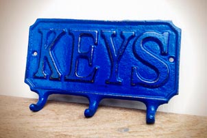 Blue Key Hook
