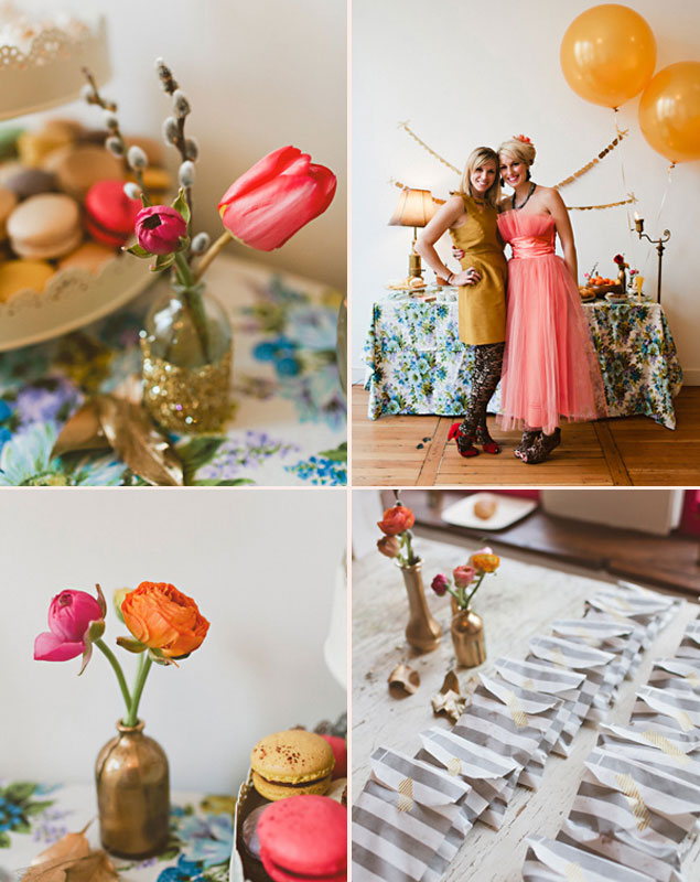 Gold and Coral Bridal Shower