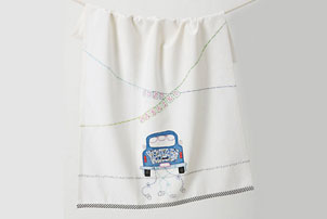 Just Married Dish Towel