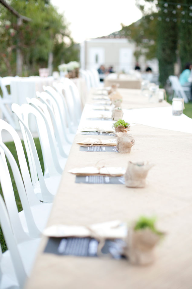 Long Wedding Tablescape