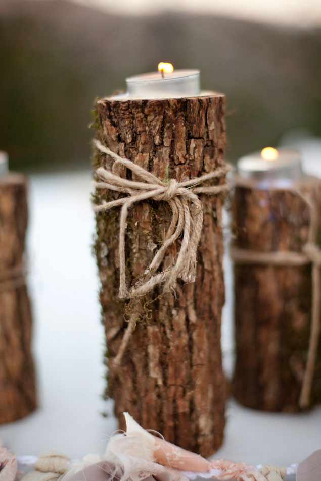 Rustic Branch Candle Holders