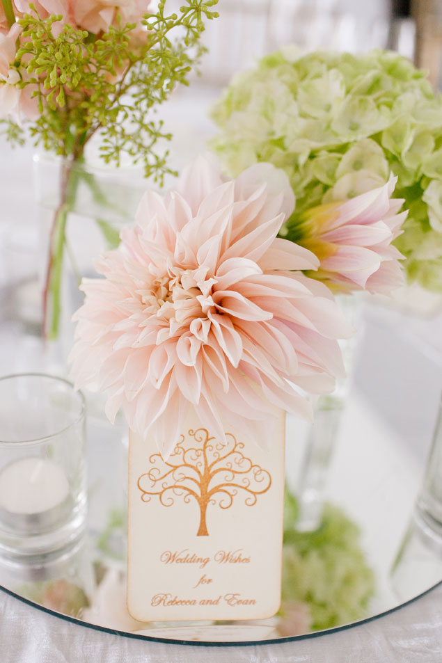Pale Pink & Green Wedding Flowers