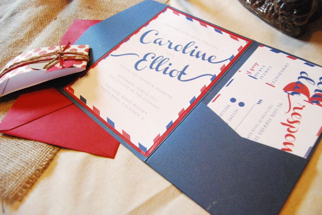 Red White And Blue Wedding Invitations: Etsy Eye Candy: Red White Blue Wedding Inspiration