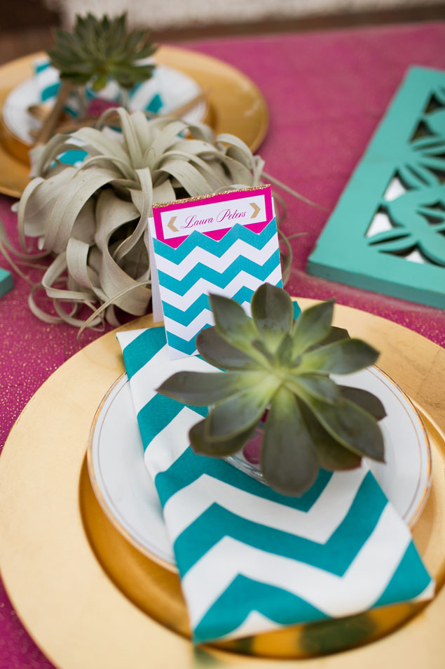 Chevron Wedding Place Setting