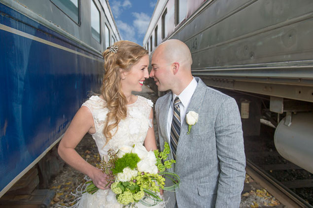 Railroad Themed Wedding Shoot