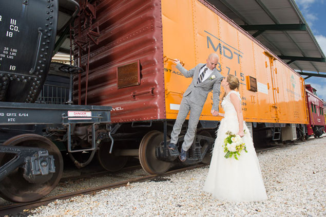 Railroad Themed Wedding