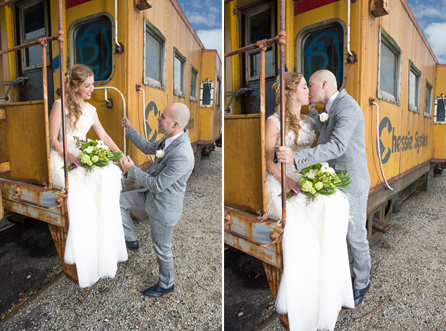 Train Themed Wedding Shoot