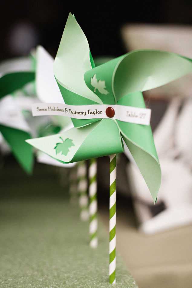 Green Wedding Pinwheels