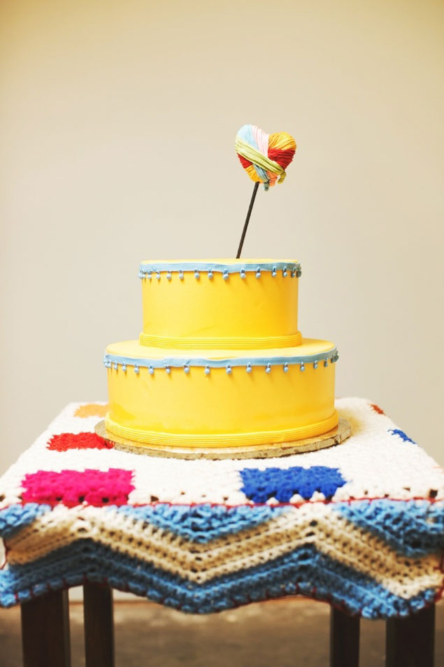 Playful Yellow Cake