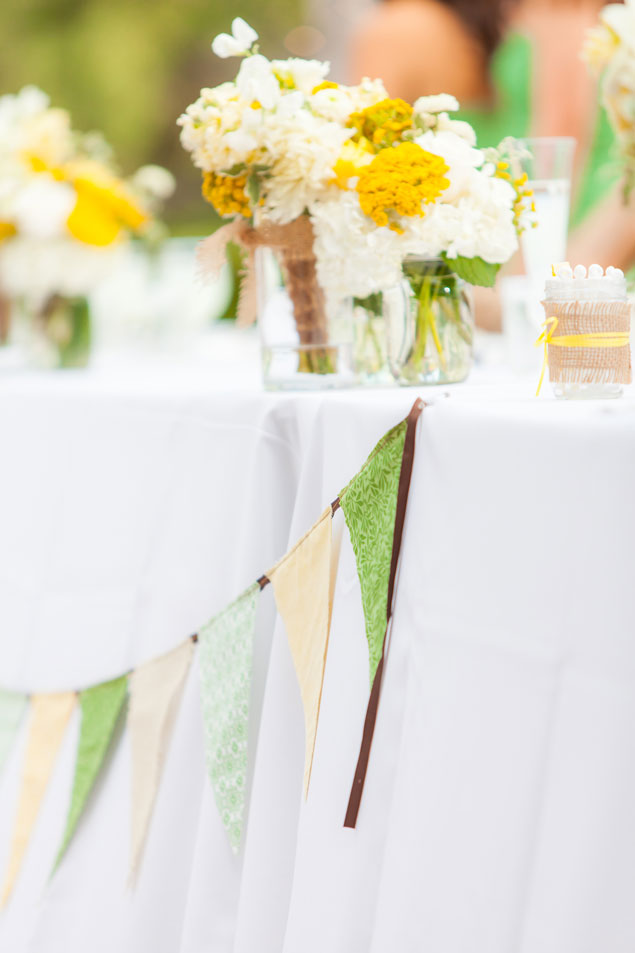 Yellow and Groom Wedding Decor