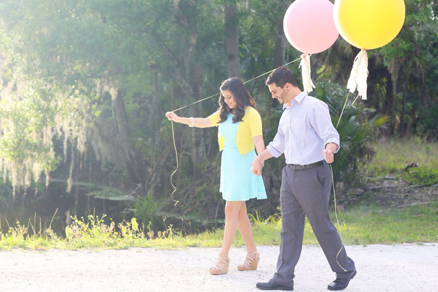 Balloon Engagement Photo Props