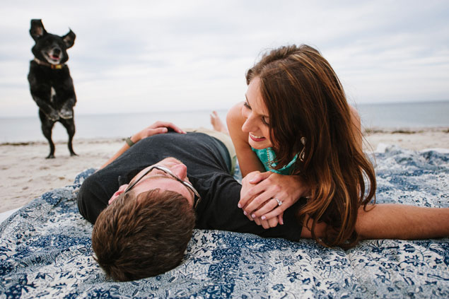Beach Engagement Shoot with Dog