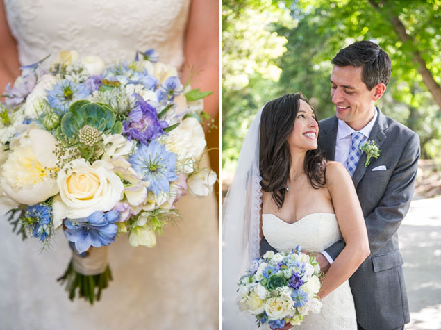 Blue Wedding Bouquet Inspiration