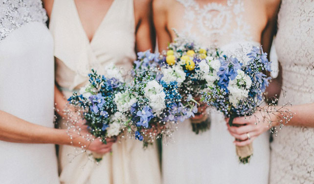 Inspiration blue wedding bouquets wedloft junglespirit