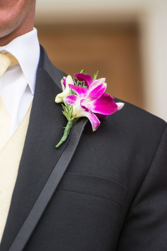 Hot Pink Floral Boutonniere