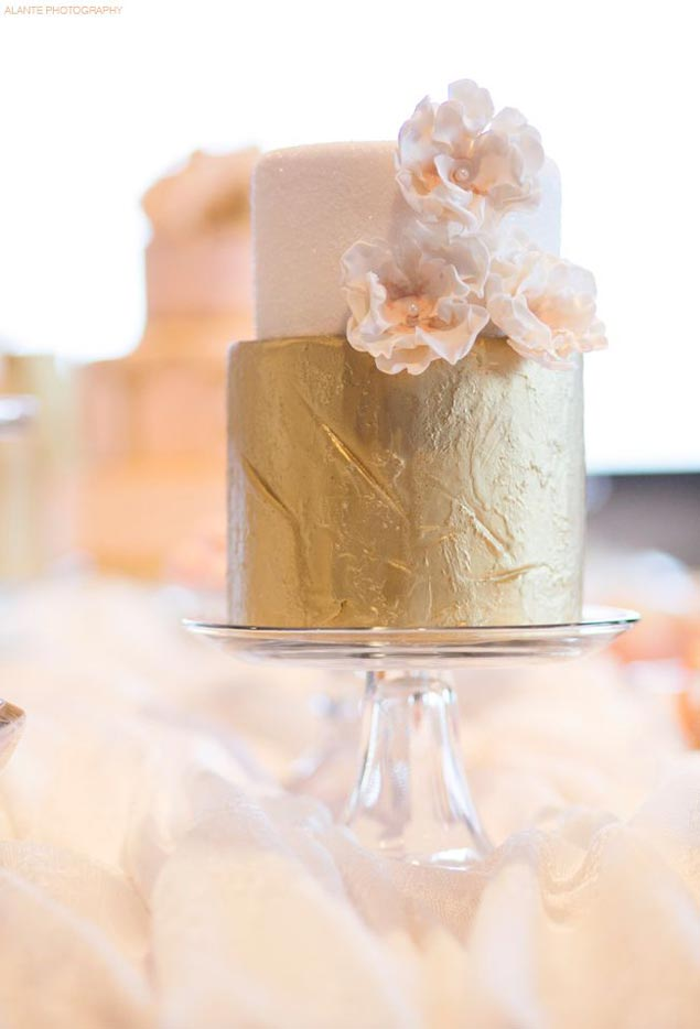Gold Wedding Cakes