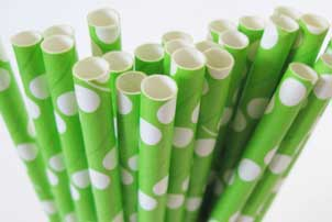Lime Green Straws