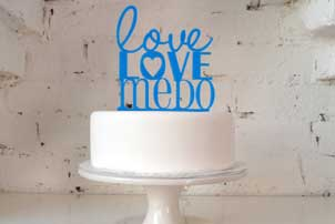 Love Me Do Cake Topper