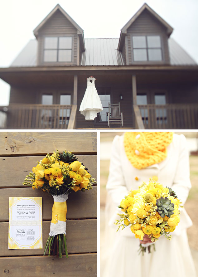Yellow Winter Wedding