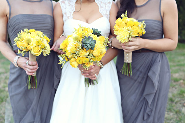 Yellow Wedding Bouquets