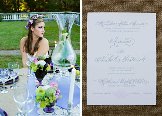Purple Styled Wedding Shoot