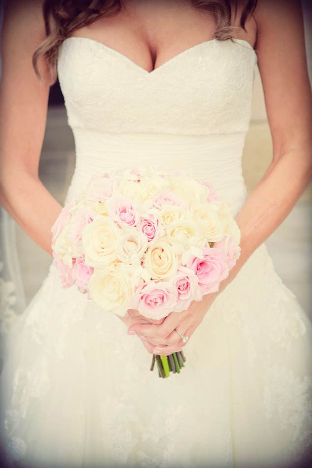 Pale Pink & Ivory Wedding Bouquet