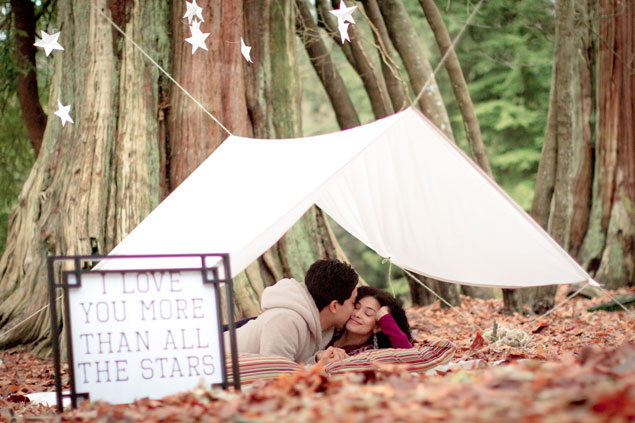 Tented Engagement Shoot