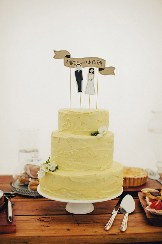 Pale Yellow Wedding Cake