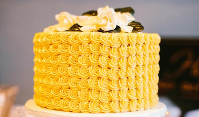 Blue And Yellow Wedding Cakes Pictures