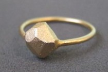 Gold Faceted Ring