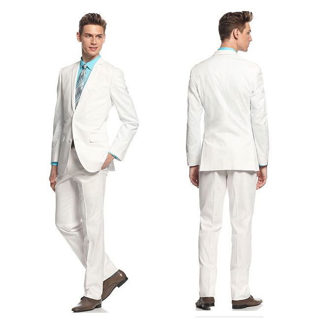 White Slim Fit Groom Suit