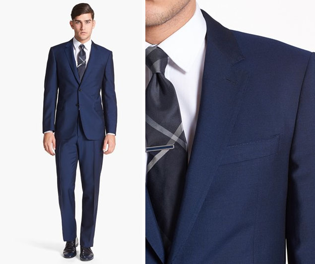 Slim Fit Groom Navy Suit