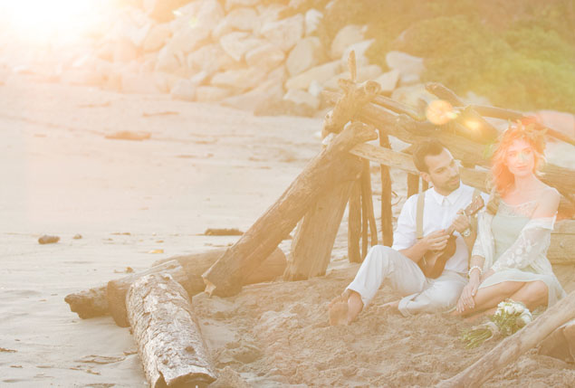 Bohemian Beach Engagement Shoot