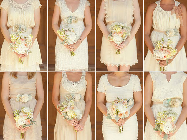 Mix and Match Bridesmaid Attire