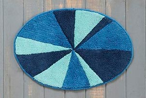 Oval Slice Bath Mat