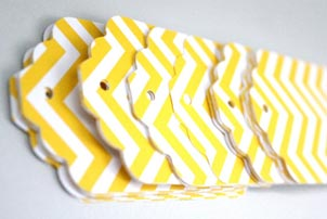 yellow chevron tags