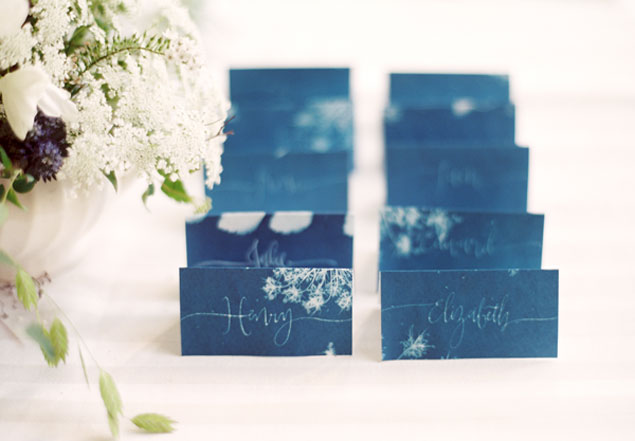 DIY Escort Cards - Sunprints