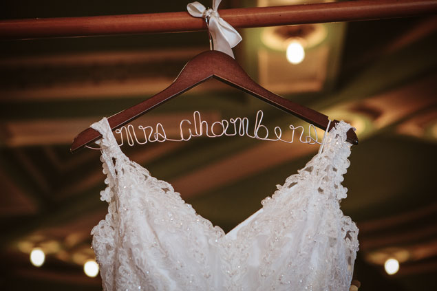 Personalized Wedding Dress Hanger