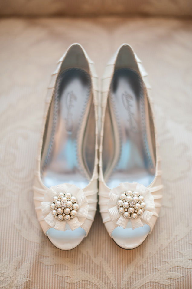While Wedding Shoes