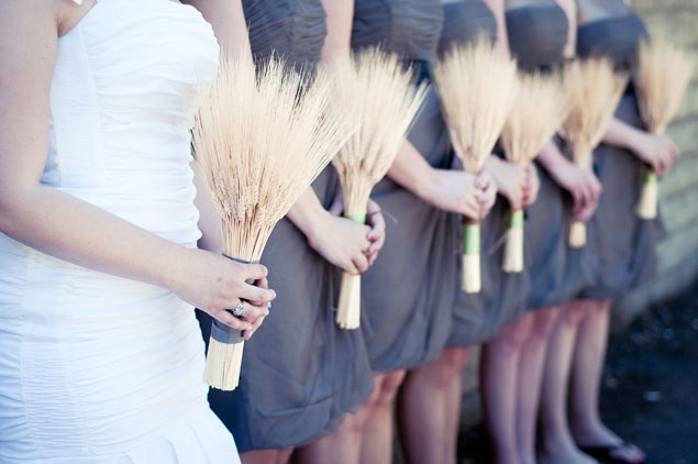 Wheat Bridesmaid Bouquets